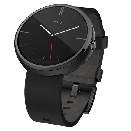 Motorola Moto 360 Android Wear Smartwatch Black Leather