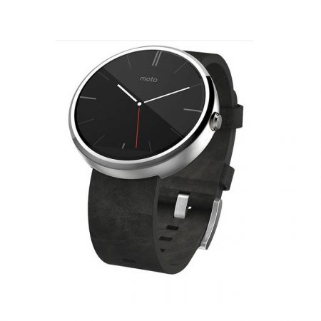 Motorola Moto 360 Android Wear Smartwatch Grey Leather