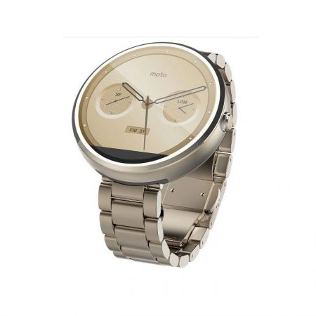 Motorola Moto 360 Android Wear Stainless Steel Smart Watch - Champagne Gold