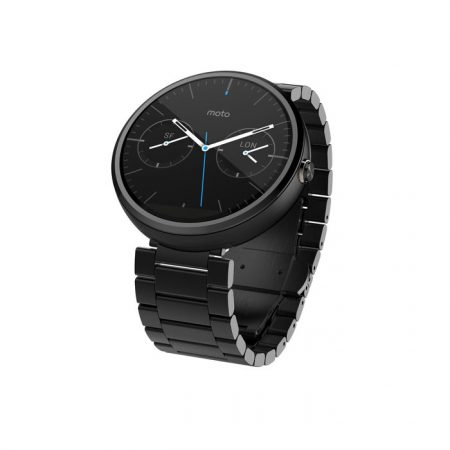 Motorola Moto 360 Android Wear Stainless Steel Smart Watch - Dark Metal