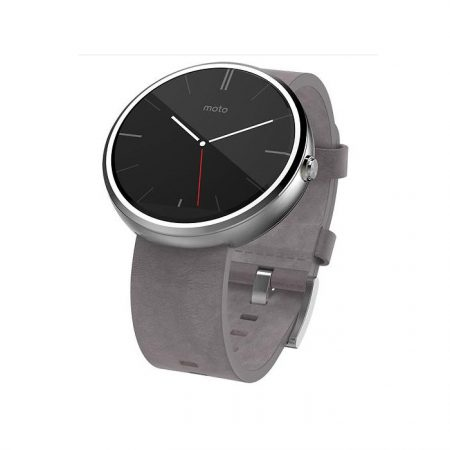 Motorola Moto 360 Android Wear Smartwatch Stone Leather