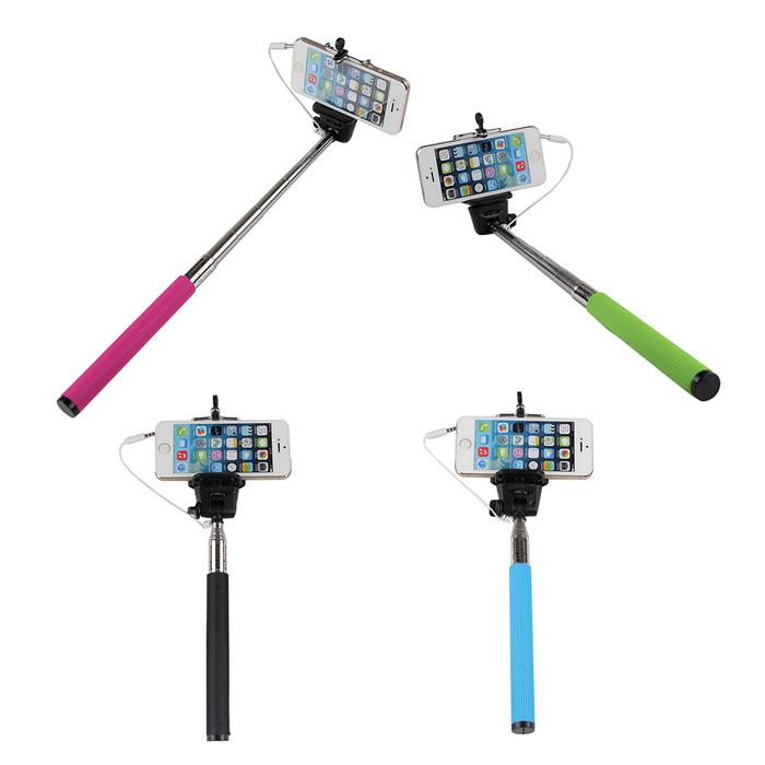 wired selfie sticks handheld monopod. Black Bedroom Furniture Sets. Home Design Ideas