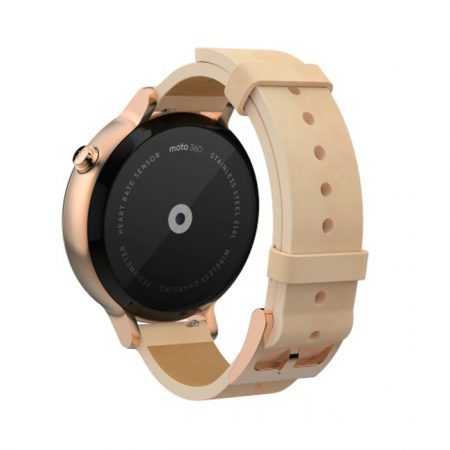 Motorola Moto 360 2nd Gen (42 mm) for Women Smartwatch (Gold)