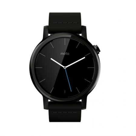 Motorola Moto 360 (2nd Gen.) - Mens 46mm, Black with Black Leather