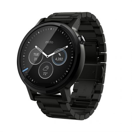 Motorola Moto 360 (2nd Gen.) - Mens 46mm, Black with Black Metal