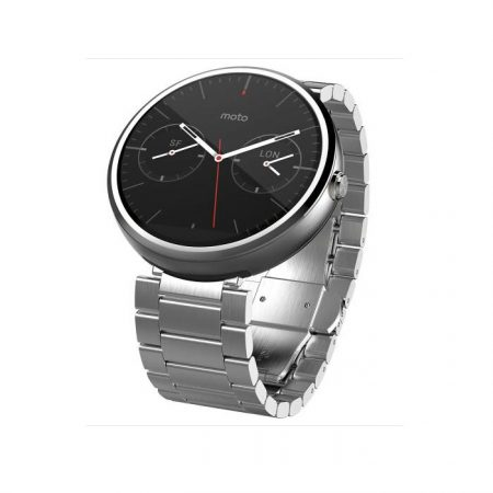 Motorola Moto 360 Android Wear Smartwatch Natural Silver