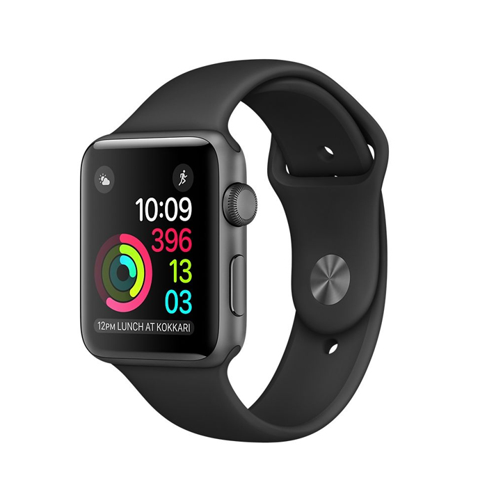 Apple Watch (MP062) 42mm Space Gray Aluminum Case with Black Sport Band