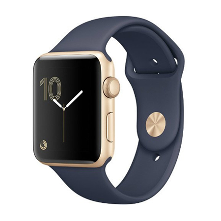 APPLE WATCH 42MM GOLD ALUMINUM CASE WITH SPORT BAND (MQ122)