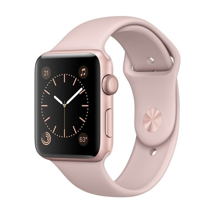 APPLE WATCH SERIES 2, 42MM, ROSE GOLD ALUMINUM CASE, WITH SPORT BAND (MQ142)