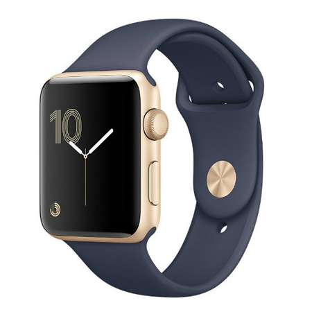 APPLE WATCH SERIES 2 42MM GOLD ALUMINUM CASE WITH SPORT BAND (MQ152)