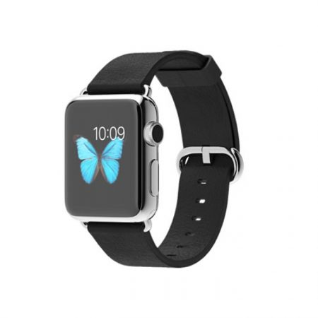 Apple Watch 38mm Stainless Steel Case with Black Classic Buckle MJ312