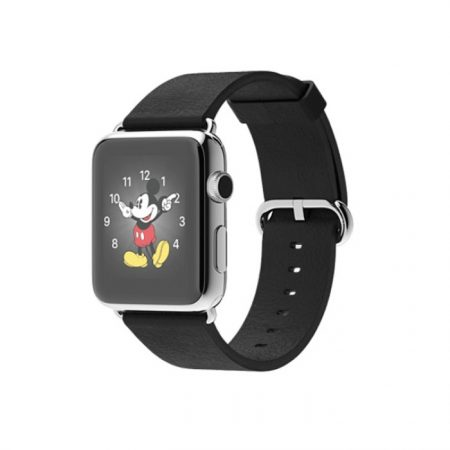 Apple Watch 42mm Stainless Steel Case with Black Classic Buckle MJ3X2