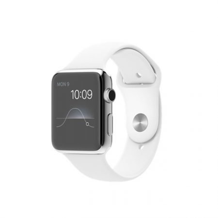 Apple Watch Sport MJ3V2 - 42mm Stainless Steel Case with White Sport Band