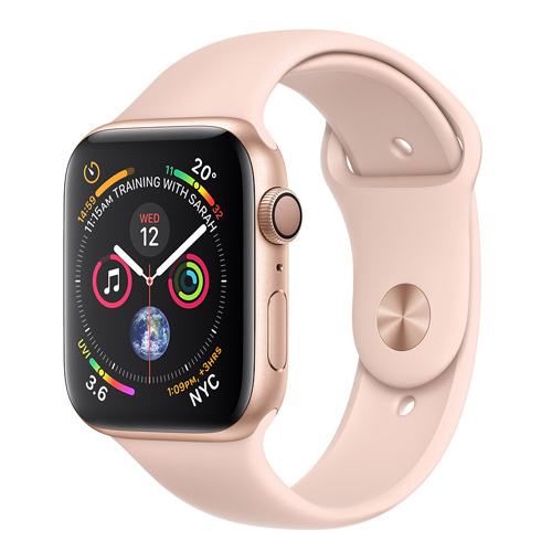 Apple Watch Series 4 GPS (44mm) MU6F2 Gold Aluminum Case with Pink Sand Sport Band