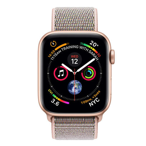 Apple Watch Series 4 GPS (44mm) MU6G2 Gold Aluminum Case with Pink Sand Sport Loop