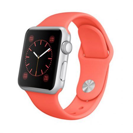 Apple Watch MJ2W2 -38mm Silver Aluminum Case with Pink Sport Band