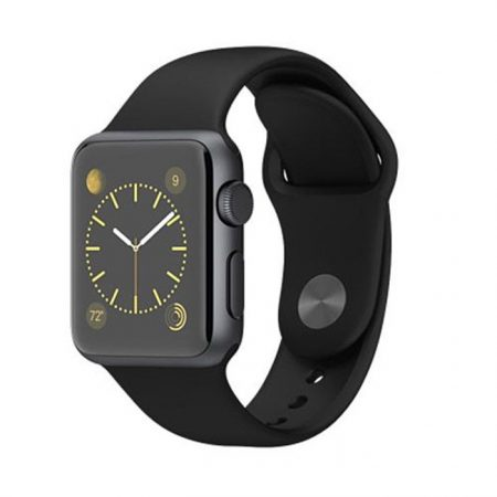 APPLE Watch Sport 38mm Space Gray Aluminum Case with Black Sport Band MJ2X2