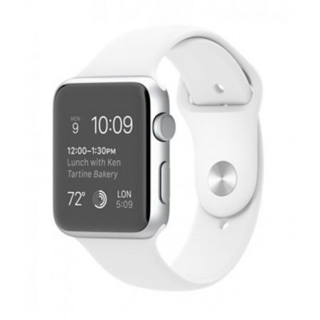 Apple Watch MJ3N2 -42mm Silver Aluminum Case with White Sport Band