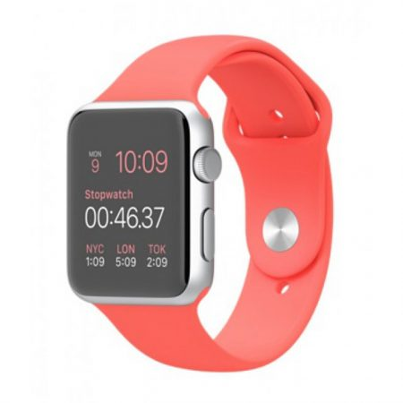 Apple Watch MJ3R2 -42mm Silver Aluminum Case with Pink Sport Band