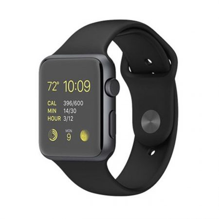Apple Watch Mj3t2 -42mm Silver Aluminum Case with Black Sport Band