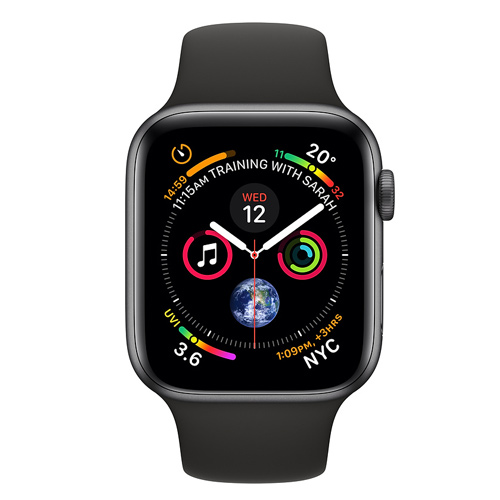 Apple Watch Series 4 GPS (44mm) MU6D2 Space Gray Aluminum Case with Black Sport Band
