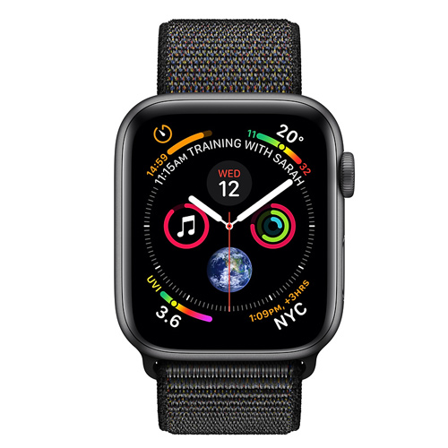 Apple Watch Series 4 GPS (44mm) MU6E2 Space Gray Aluminum Case with Black Sport Loop