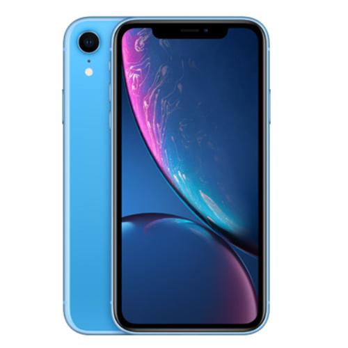 Apple iPhone XR Dual Sim 64GB, 4G LTE - Blue (Facetime)