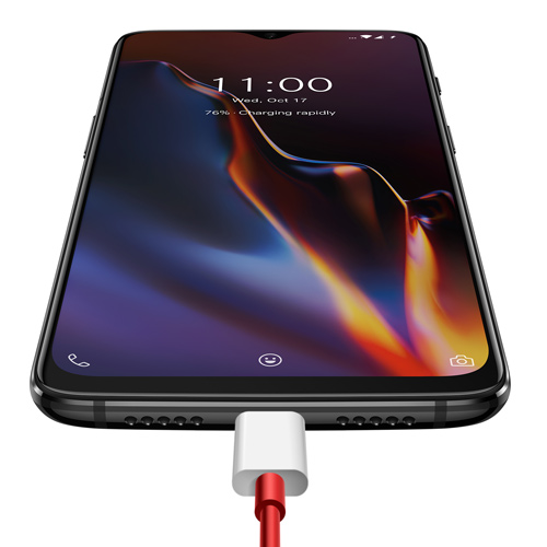 OnePlus 6T Dual Sim - 256GB, 8GB RAM, 4G LTE, Thunder Purple